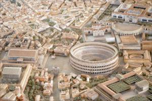 makieta starożytnego rzymu