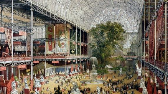crystal palace wnętrze - londyn - joseph paxton