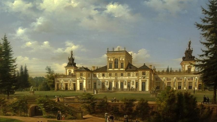 1834 r. pałac w wilanowie w warszawie i ogrody wilanowskie Wincenty Kasprzycki