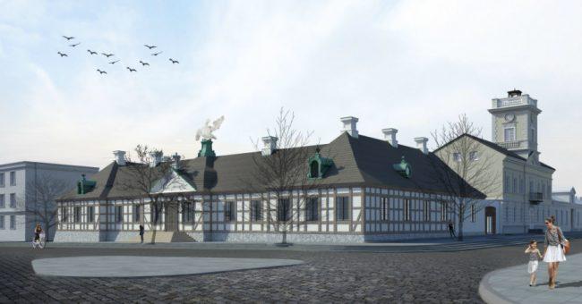 pałac (pocztowy) saski w kutnie - wizualizacje