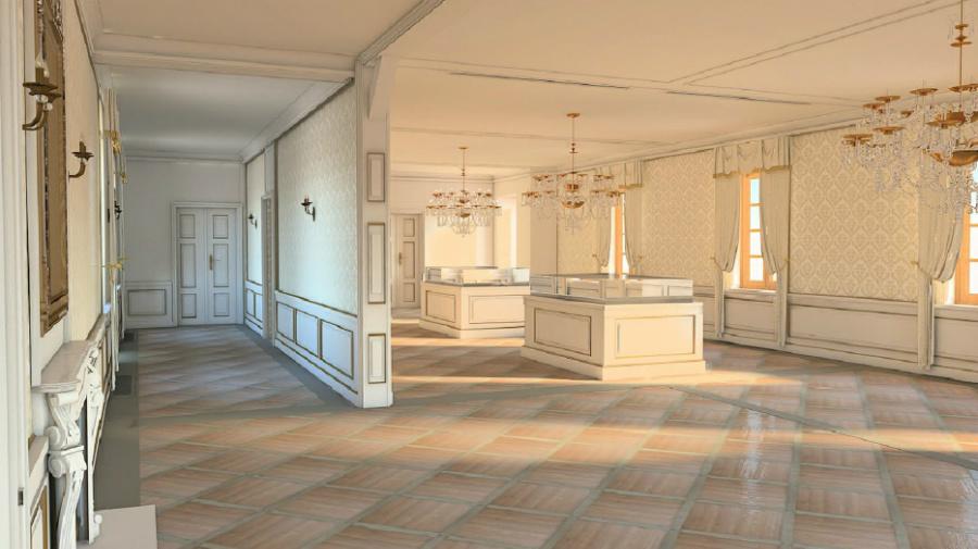 pałac (pocztowy) saski w kutnie - wizualizacje wnętrz