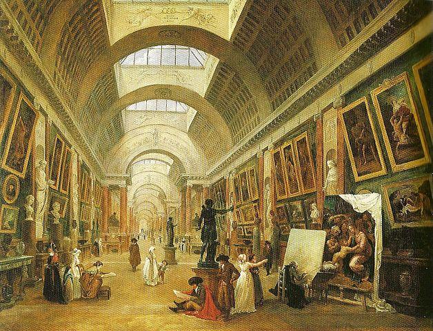 Galeria Luwr w Paryżu - obraz Huberta Roberta