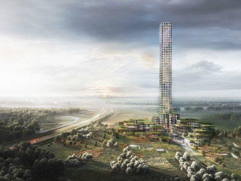 Dania - Bestseller Tower w Brande - najwyższy budynek w unii europejskiej - Dorte Mandrup Arkitekter