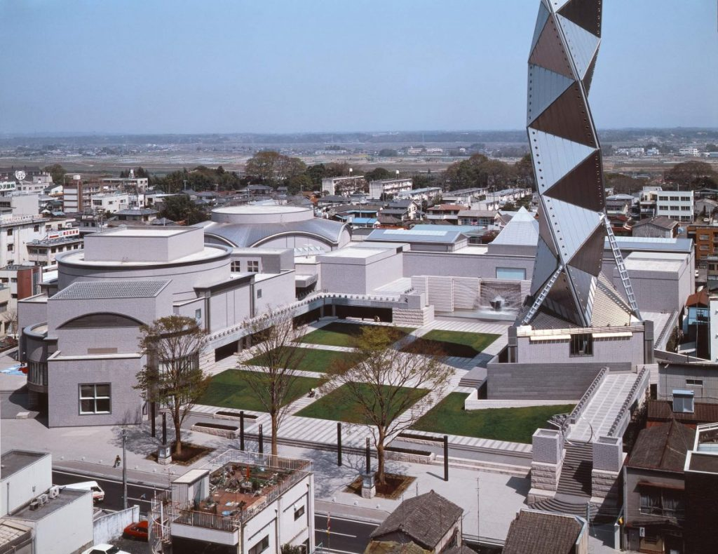 Arata Isozaki, Art Tower Mito (1990), photo courtesy of Yasuhiro Ishimoto