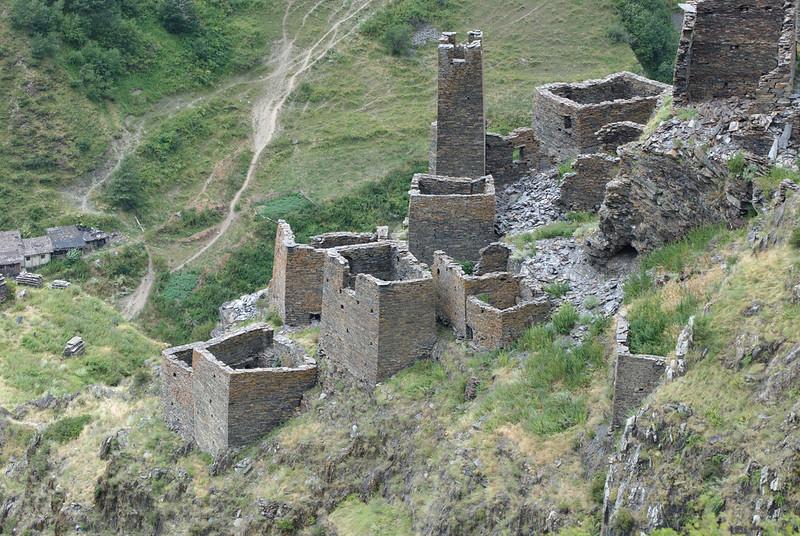 Ufortyfikowana wioska w Mutso - Gruzja