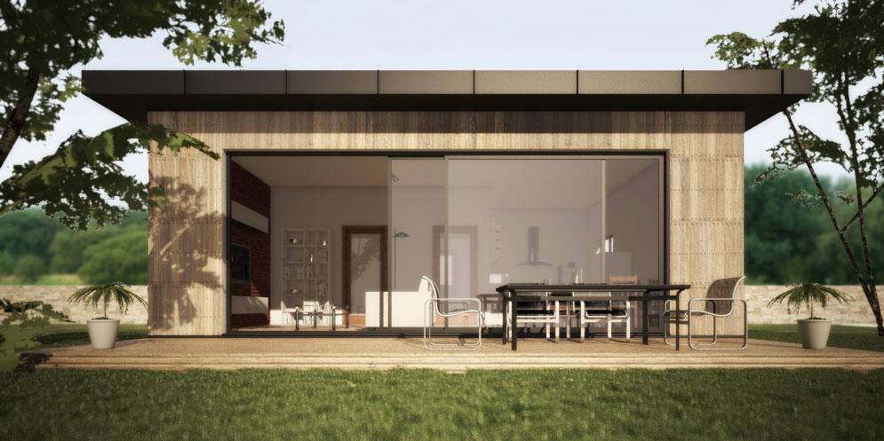 modułowy dom 35 m2 na zgłoszenie