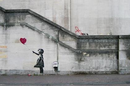 Banksy - mural - Dziewczynka z Balonem