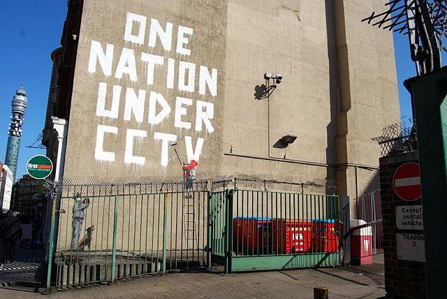 Banksy - mural - CCTV