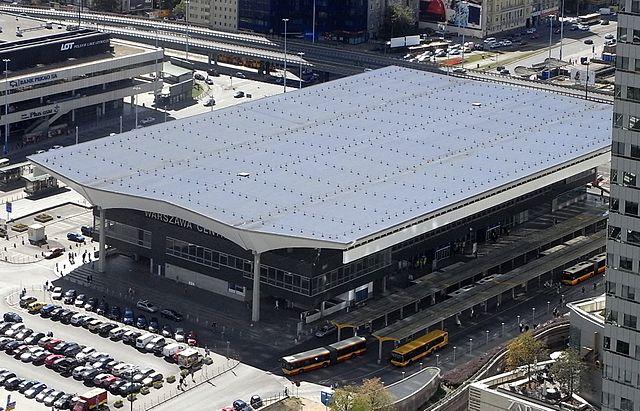 dworzec centralny w warszawie - zabytek - dach