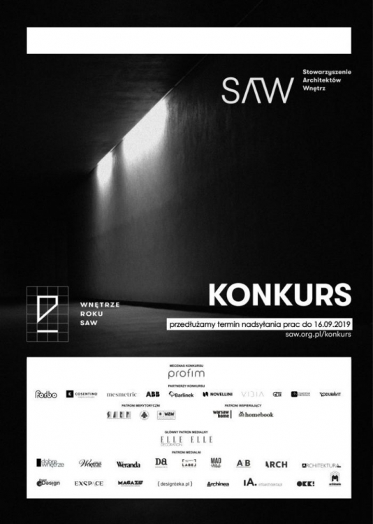 Konkurs Wnętrze Roku dla architektów wnętrz - zgłoszenia do 16 września!