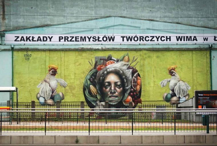Mural_ autor NOMAD CLAN - Mokosh, 2017,