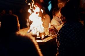 świąteczne piwo przy ognisku