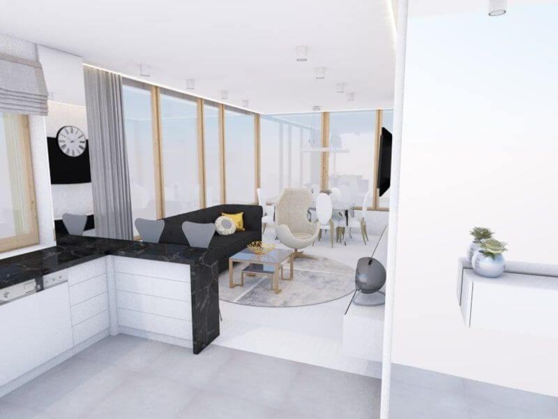 najlepsze projekty wnętrz - salon