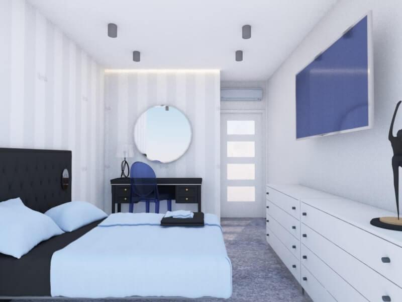 najlepsze projekty wnętrz - sypialnia