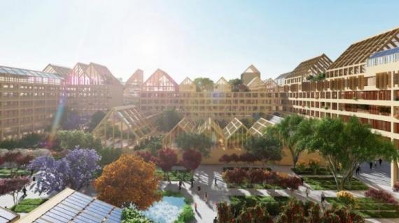 Samowystarczalne miasto idealne Xiong`an - projekt architektoniczno-urbanistyczny