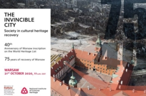 webinarium na 40 lecie wpisu warszawy na UNESCO - the invincible city - program