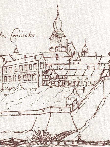 Widok na Zamek Królewski w Warszawie z 1627 roku