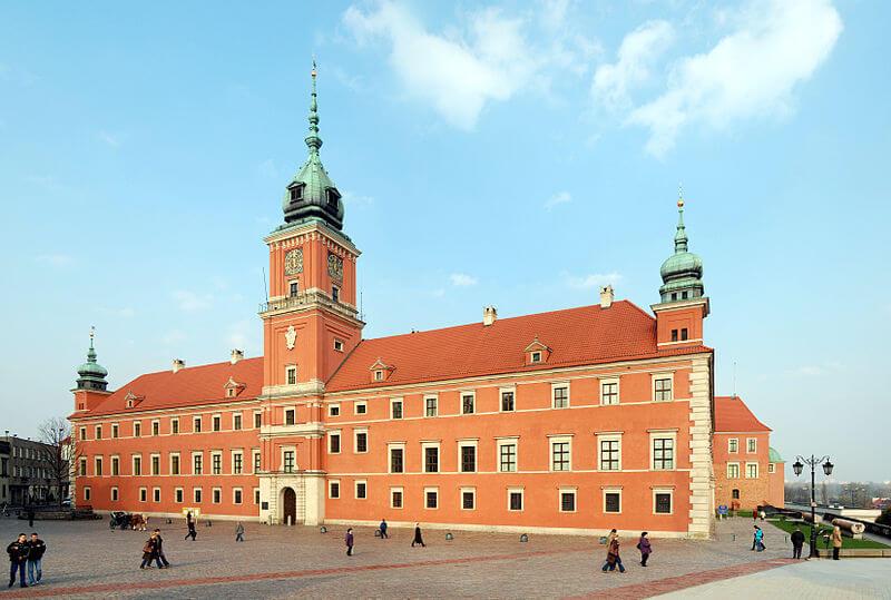 Zamek Królewski w Warszawie - obecnie.
