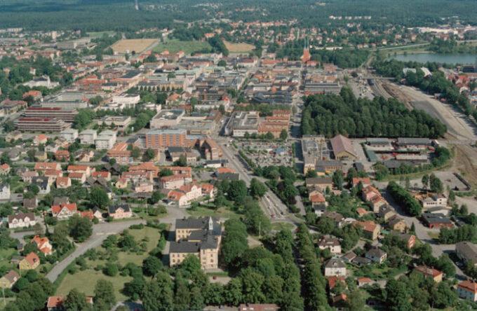 Miasto Växjö w Szwecji.