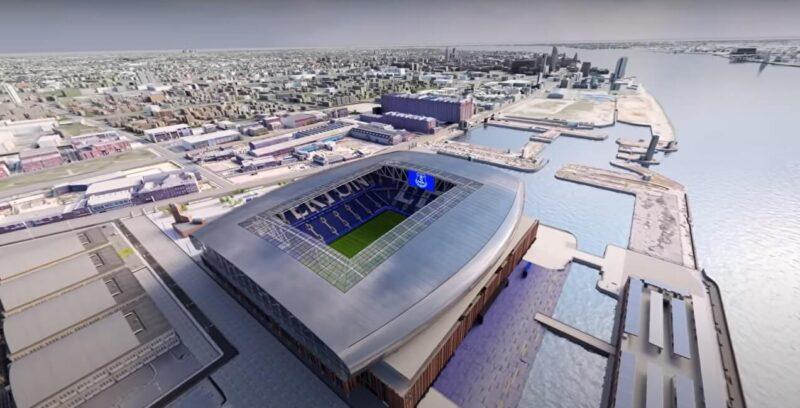 Nowy projekt stadionu Everton w Liverpoolu